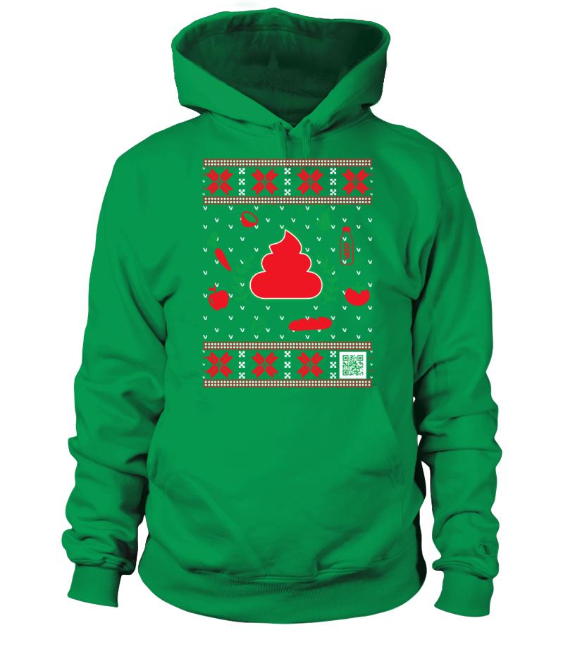 Poop Journal Ugly Christmas Hoodie | Teezily | Buy, Create & Sell ...